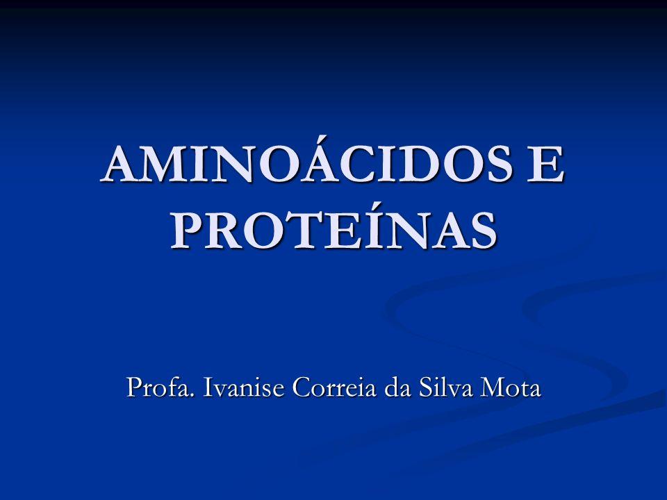 AMINOÁCIDOS E PROTEÍNAS Profa. Ivanise Correia da Silva Mota