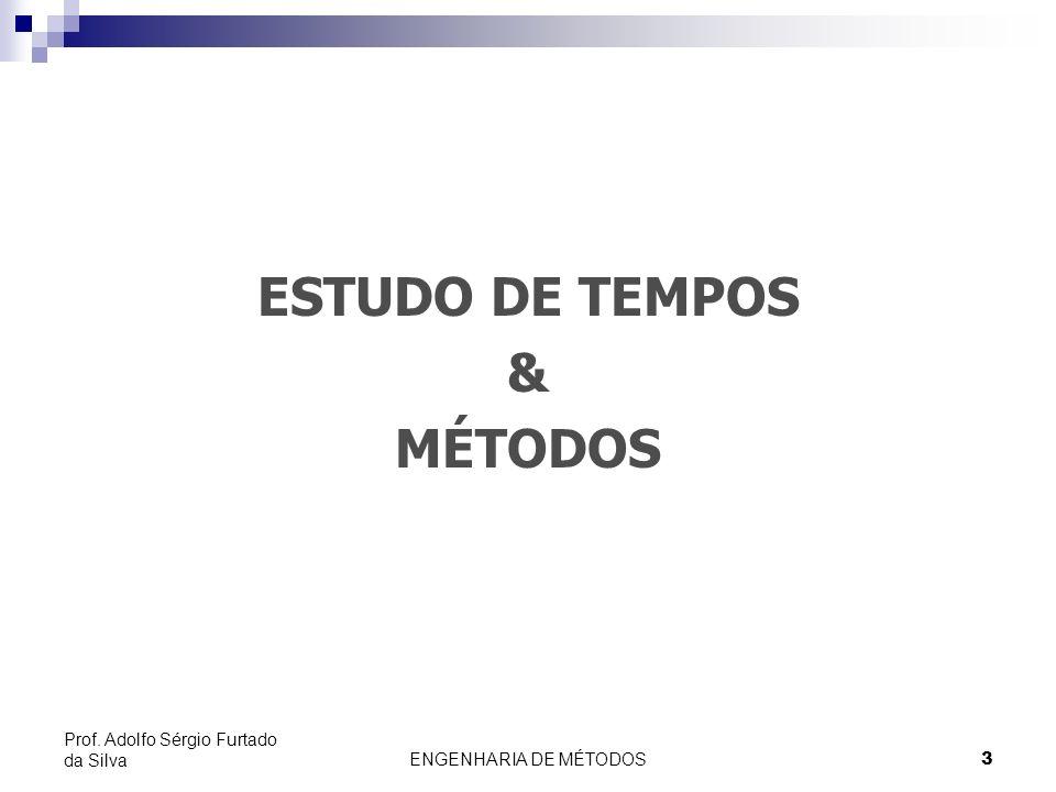 ENGENHARIA DE MÉTODOS14 Prof. Adolfo Sérgio Furtado da Silva 1- Desenvolvimento do Método Preferido