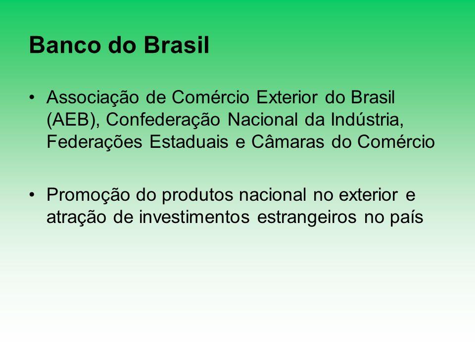 Banco do Brasil Associação de Comércio Exterior do Brasil (AEB), Confederação Nacional da Indústria, Federações Estaduais e Câmaras do Comércio Promoç