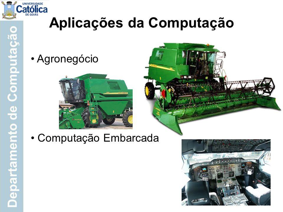 Departamento de Computação Aplicações da Computação Agronegócio Computação Embarcada