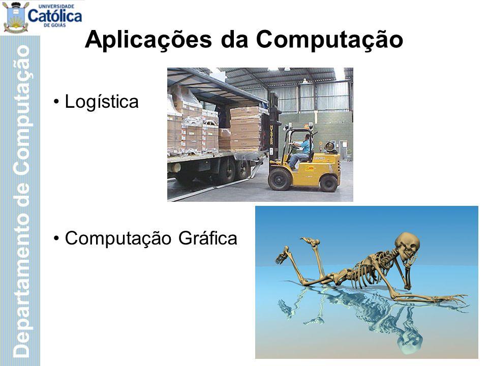 Departamento de Computação Aplicações da Computação Logística Computação Gráfica