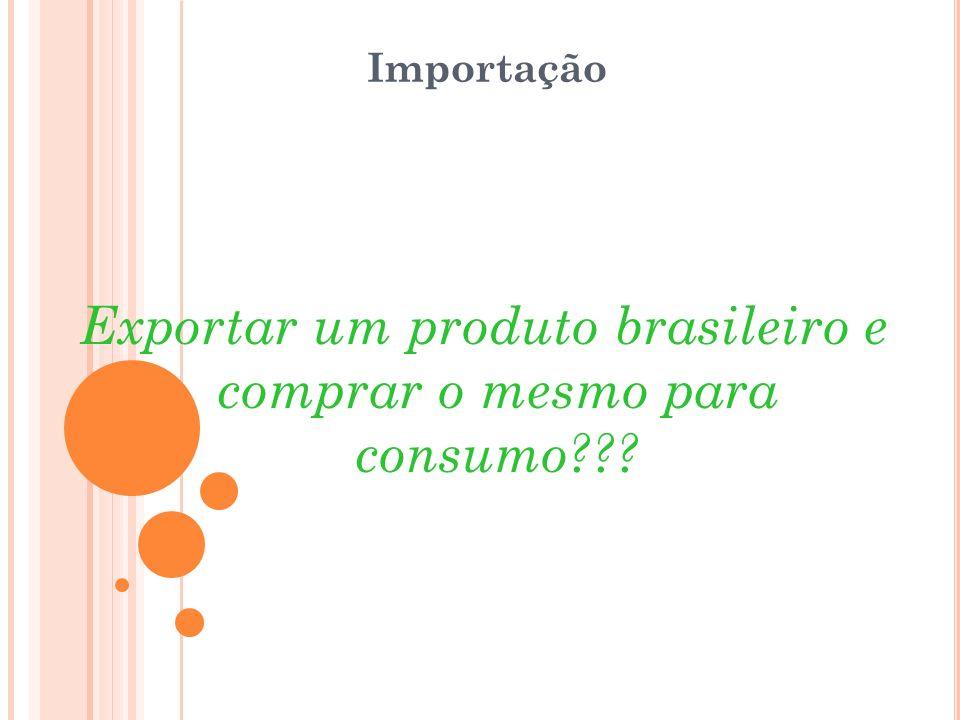 Importação Exportar um produto brasileiro e comprar o mesmo para consumo???