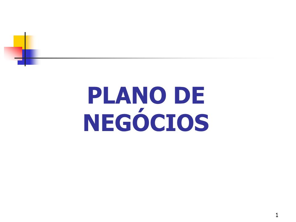 PLANO DE NEGÓCIOS 1