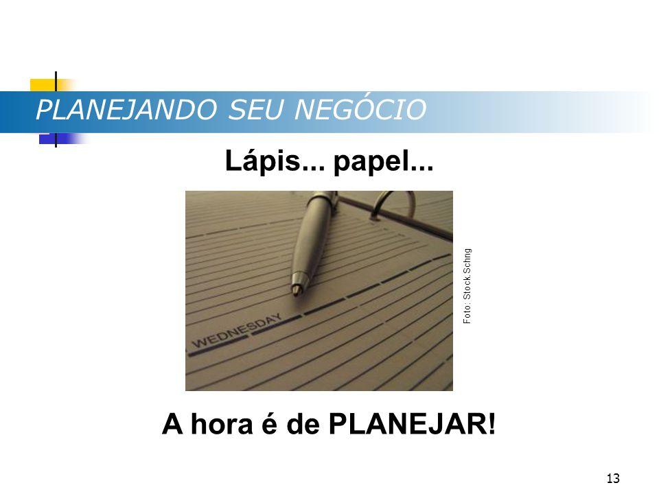 Lápis... papel... A hora é de PLANEJAR! PLANEJANDO SEU NEGÓCIO Foto: Stock.Schng 13