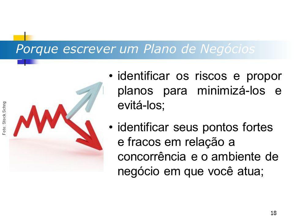 Porque escrever um Plano de Negócios Foto: Stock.Schng identificar os riscos e propor planos para minimizá-los e evitá-los; identificar seus pontos fo