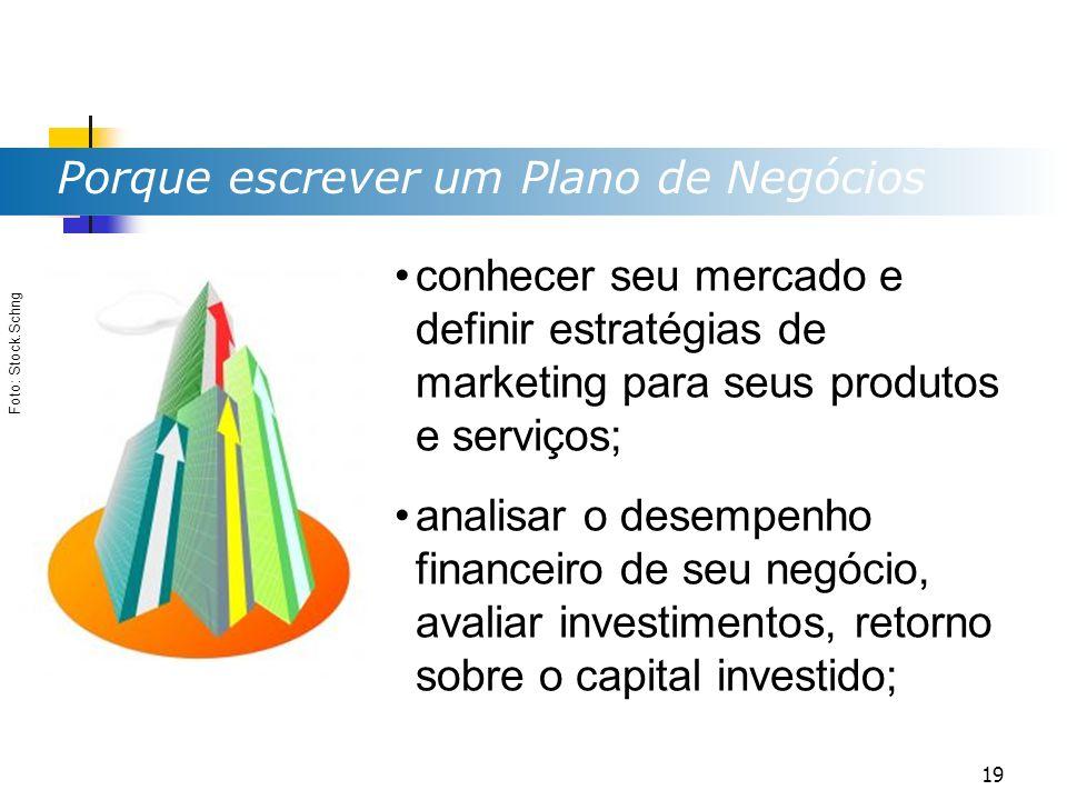 Porque escrever um Plano de Negócios Foto: Stock.Schng conhecer seu mercado e definir estratégias de marketing para seus produtos e serviços; analisar