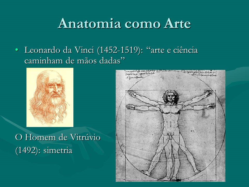 Anatomia como Arte Michelangelo Buonarotti: ápice; 20 anos adquirindo conhecimentos do corpo humano num convento.Michelangelo Buonarotti: ápice; 20 anos adquirindo conhecimentos do corpo humano num convento.