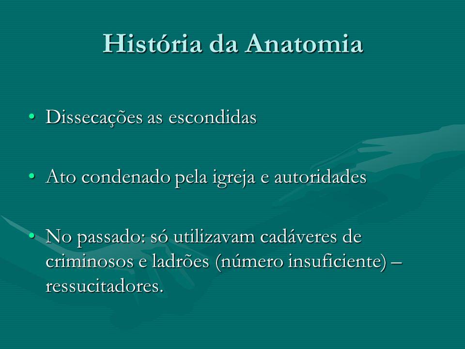 História da Anatomia Andreas Vesalius (1514-1564): De humani corporis fabrica.