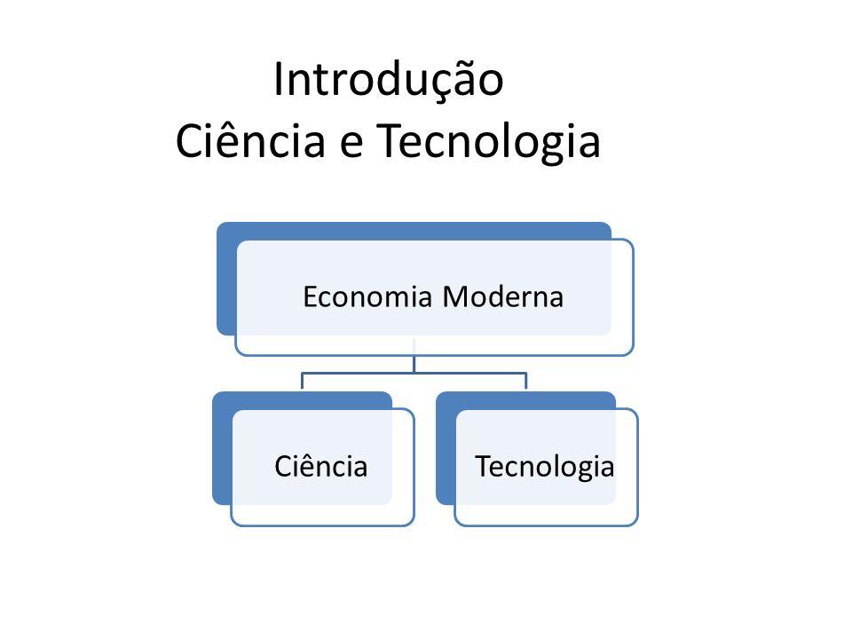 Introdução Ciência e Tecnologia Economia ModernaCiênciaTecnologia