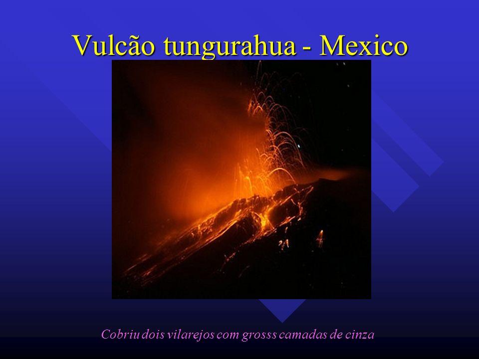 Vulcão tungurahua - Mexico Cobriu dois vilarejos com grosss camadas de cinza