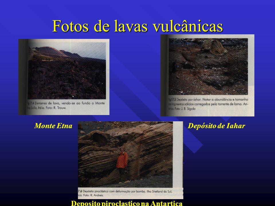 Fotos de lavas vulcânicas Monte EtnaDepósito de Iahar Deposito piroclastico na Antartica