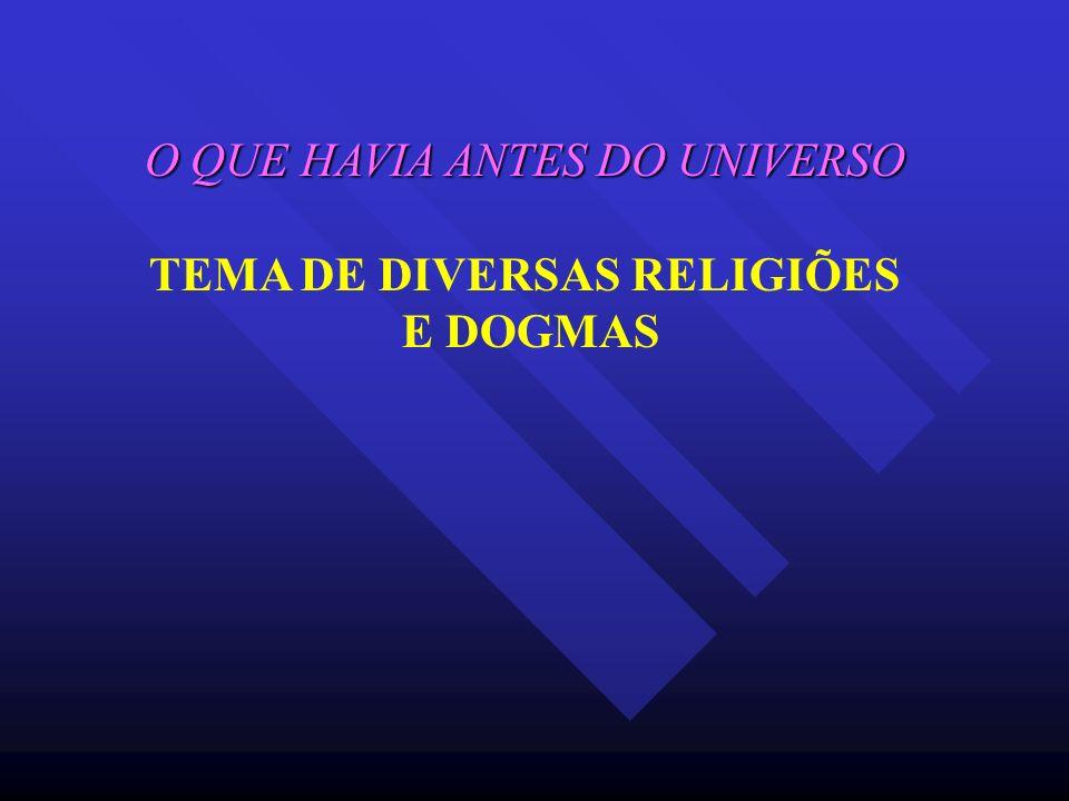 O QUE HAVIA ANTES DO UNIVERSO TEMA DE DIVERSAS RELIGIÕES E DOGMAS