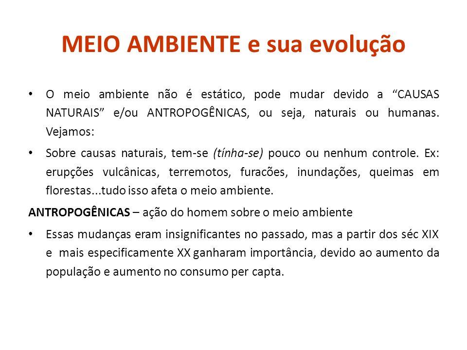 DESENVOLVIMENTO E MEIO AMBIENTE REVOLUÇÕES (séc.