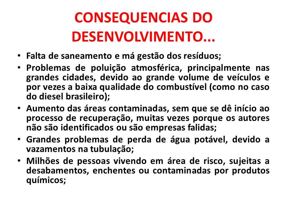CONSEQUENCIAS DO DESENVOLVIMENTO II...