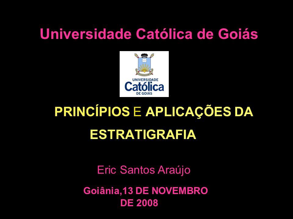 Universidade Católica de Goiás PRINCÍPIOS E APLICAÇÕES DA ESTRATIGRAFIA Eric Santos Araújo Goiânia,13 DE NOVEMBRO DE 2008