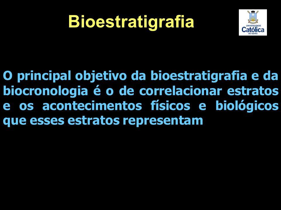 O principal objetivo da bioestratigrafia e da biocronologia é o de correlacionar estratos e os acontecimentos físicos e biológicos que esses estratos