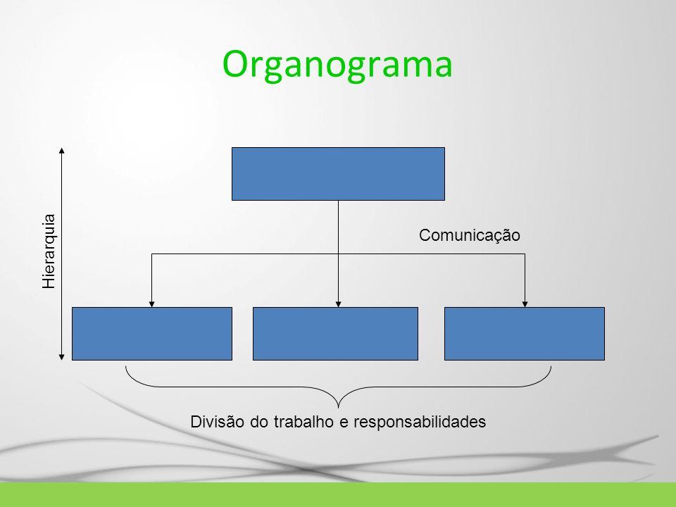 Organograma Hierarquia Comunicação Divisão do trabalho e responsabilidades