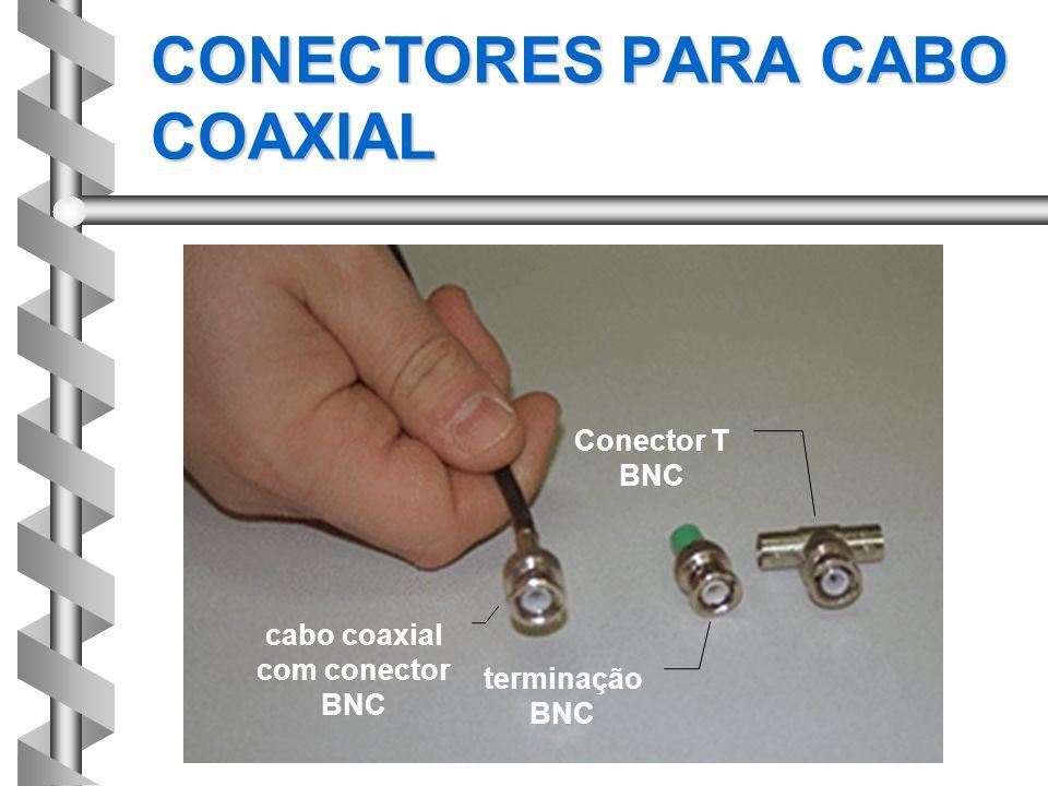 CONECTORES PARA CABO COAXIAL cabo coaxial com conector BNC terminação BNC Conector T BNC