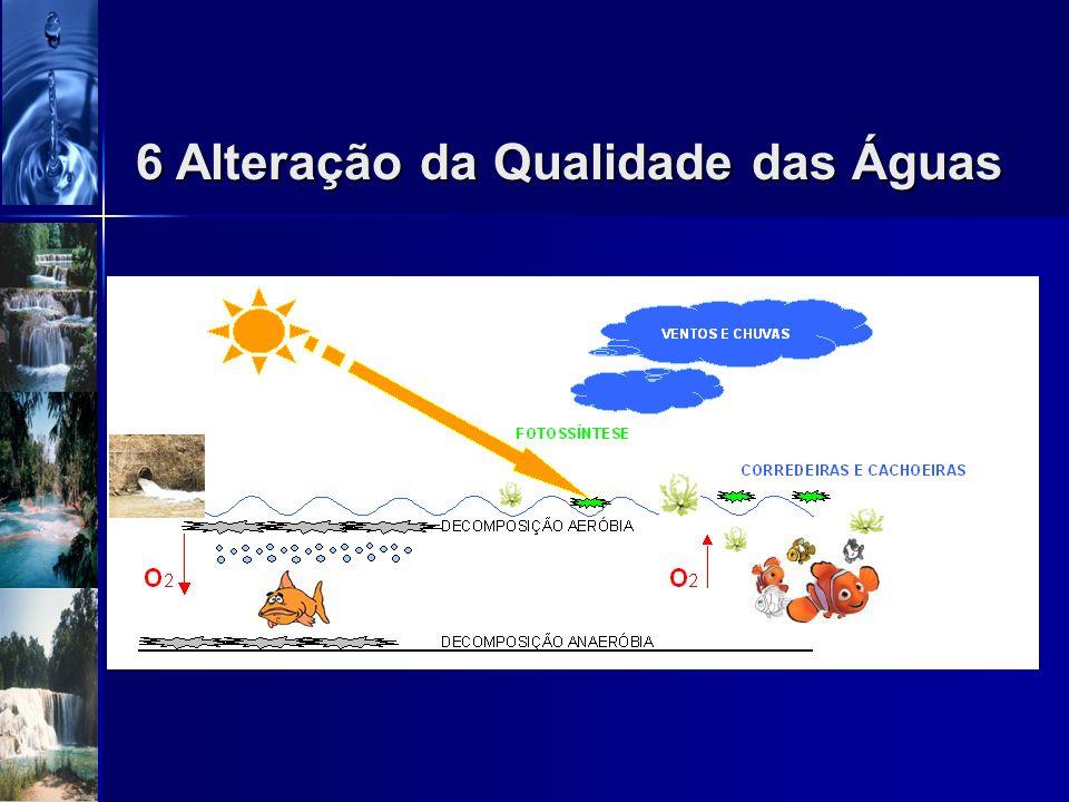 Auto depuração dos corpos dágua Ao equilíbrio natural e contínuo dos recursos hídricos existentes na biosfera, alterados sistematicamente por lançamen