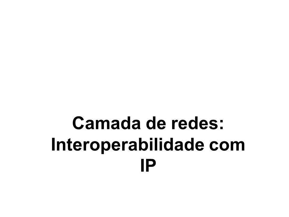 1 Camada de redes: Interoperabilidade com IP
