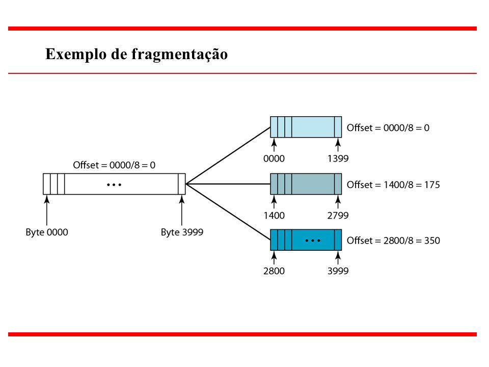 18 Exemplo de fragmentação