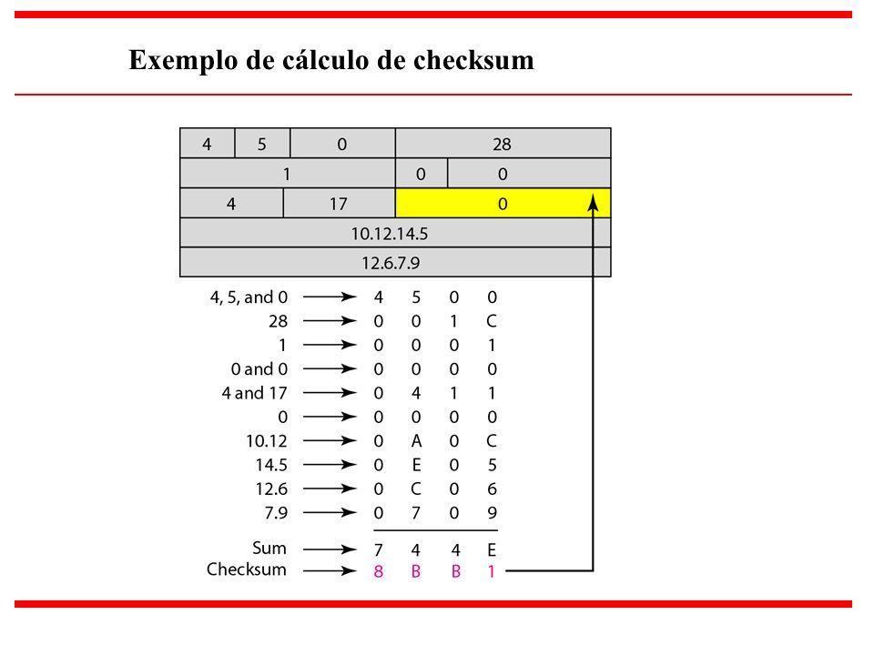 20 Exemplo de cálculo de checksum