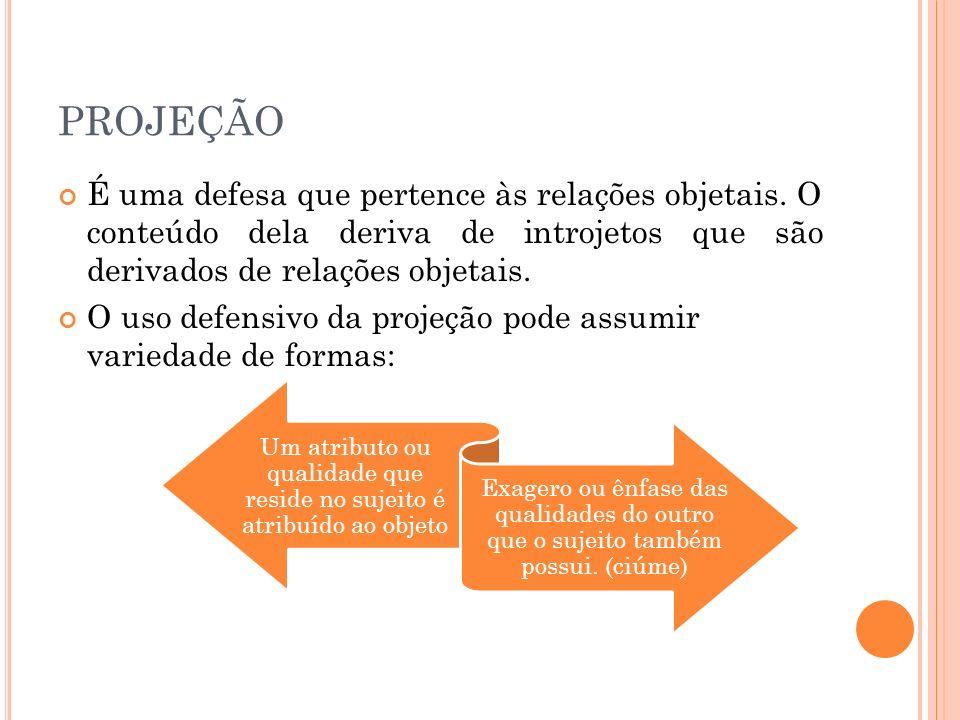 CATEGORIAS DE PROJEÇÃO: Temáticos: revelam os conteúdos significativos da personalidade, ex.