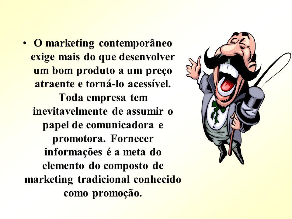 O marketing contemporâneo exige mais do que desenvolver um bom produto a um preço atraente e torná-lo acessível. Toda empresa tem inevitavelmente de a