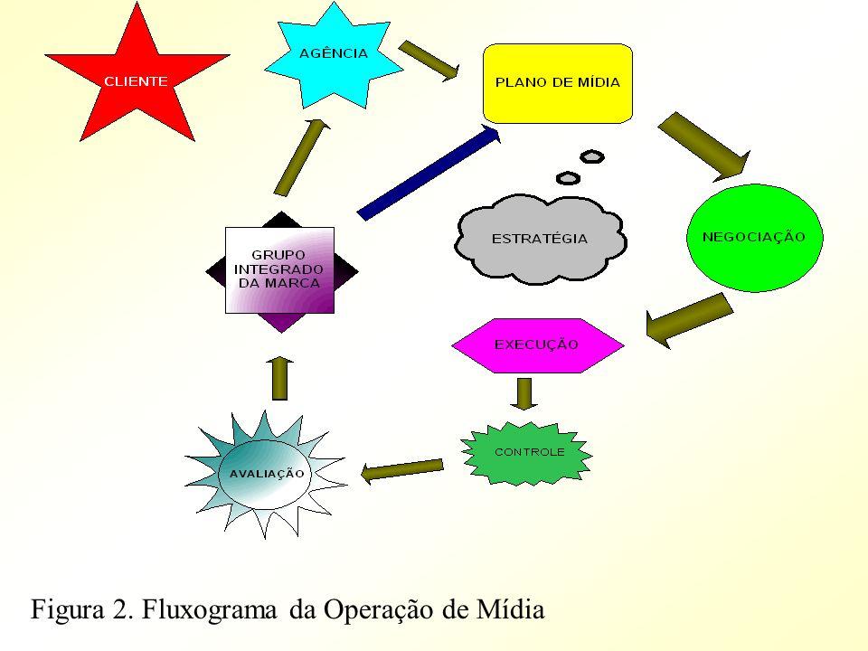 Figura 2. Fluxograma da Operação de Mídia