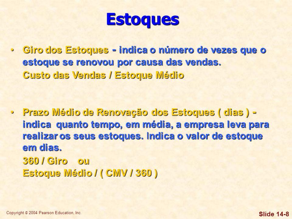 Copyright © 2004 Pearson Education, Inc. Slide 14-48 Problemas de auto-avaliação Gabaritos