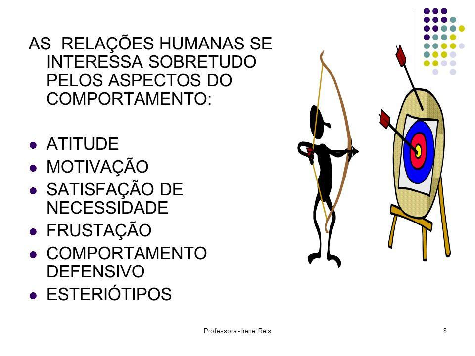 Professora - Irene Reis9 JULGAMENTO DE VALORES PERCEPÇÃO SELETIVA EFEITO DE HALO CONTRASTE PROJEÇÃO ESTEREOTIPAGEM