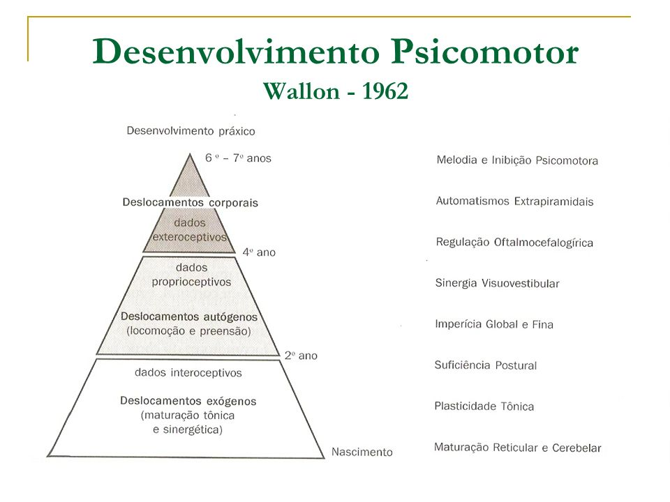 Desenvolvimento Psicomotor Wallon - 1962