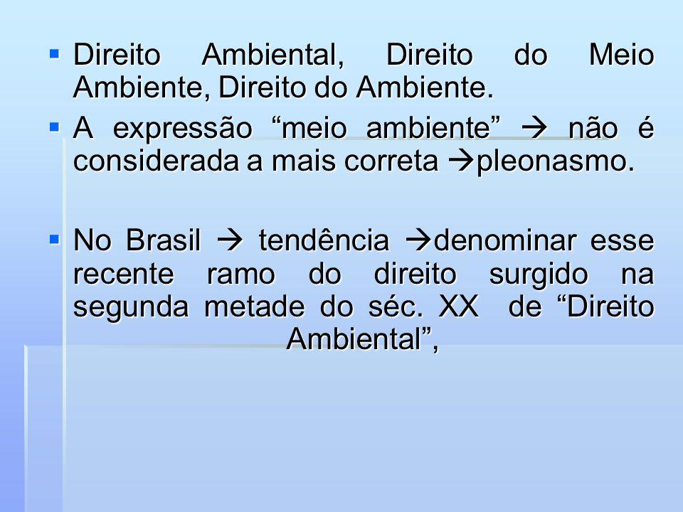 formação da disciplina - primeiros conceitos Direito Ecológico formação da disciplina - primeiros conceitos Direito Ecológico Sérgio Ferraz (1972) e Diogo de Figueiredo Moreira Neto (1975).