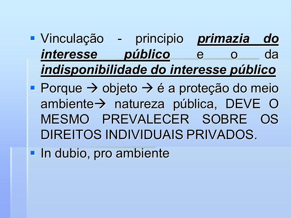 Vinculação - principio primazia do interesse público e o da indisponibilidade do interesse público Vinculação - principio primazia do interesse públic