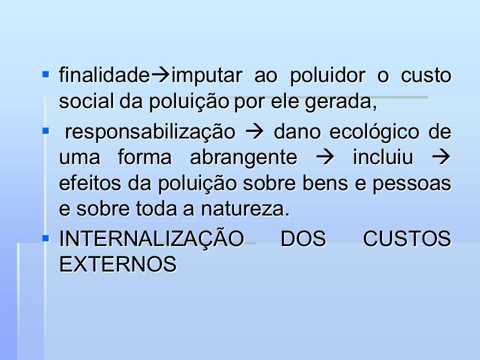 finalidade imputar ao poluidor o custo social da poluição por ele gerada, finalidade imputar ao poluidor o custo social da poluição por ele gerada, re