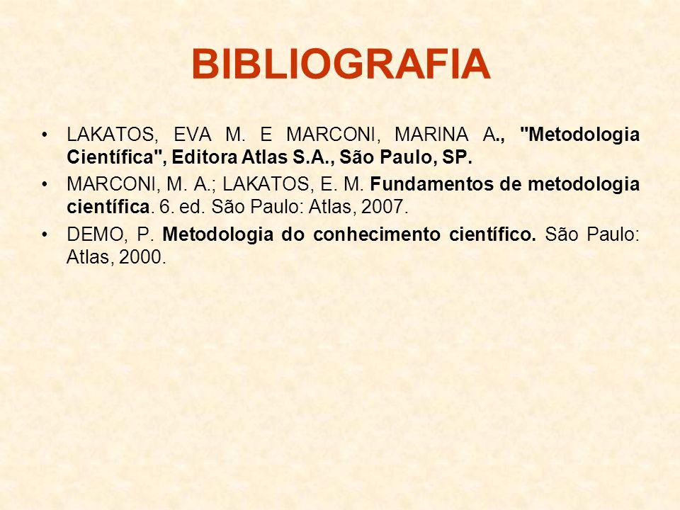 BIBLIOGRAFIA LAKATOS, EVA M. E MARCONI, MARINA A.,
