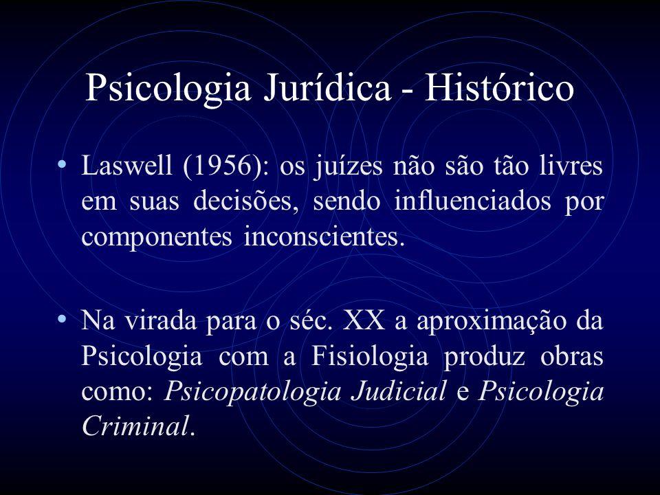 Psicologia Jurídica - Histórico Lombroso transformou a Psicologia Criminal em Psicopatologia criminal, defendendo a relação entre as características físicas e a criminalidade.