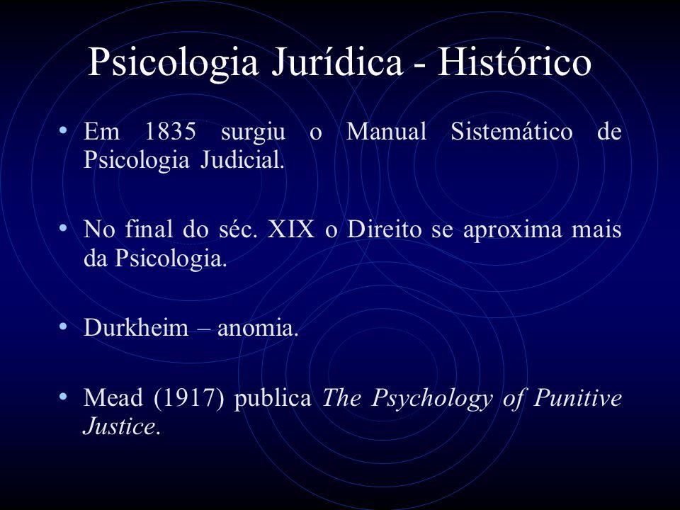 Psicologia Jurídica - Histórico Laswell (1956): os juízes não são tão livres em suas decisões, sendo influenciados por componentes inconscientes.