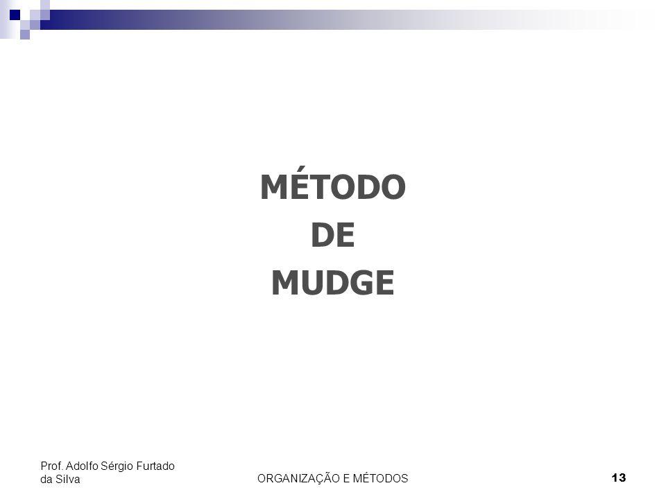 ORGANIZAÇÃO E MÉTODOS 13 Prof. Adolfo Sérgio Furtado da Silva MÉTODO DE MUDGE