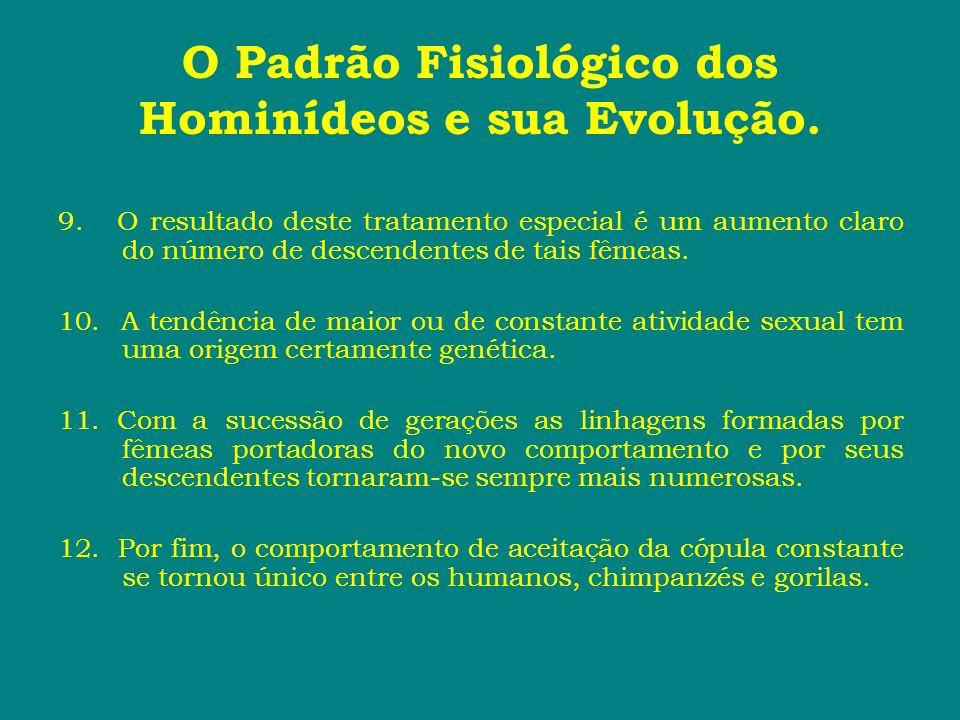 O Padrão Fisiológico dos Hominídeos e sua Evolução. 9. O resultado deste tratamento especial é um aumento claro do número de descendentes de tais fême