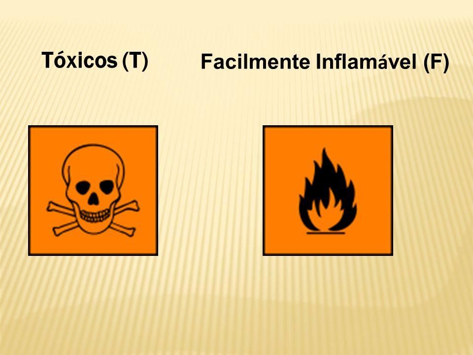 Tóxicos (T) Facilmente Inflam á vel (F)