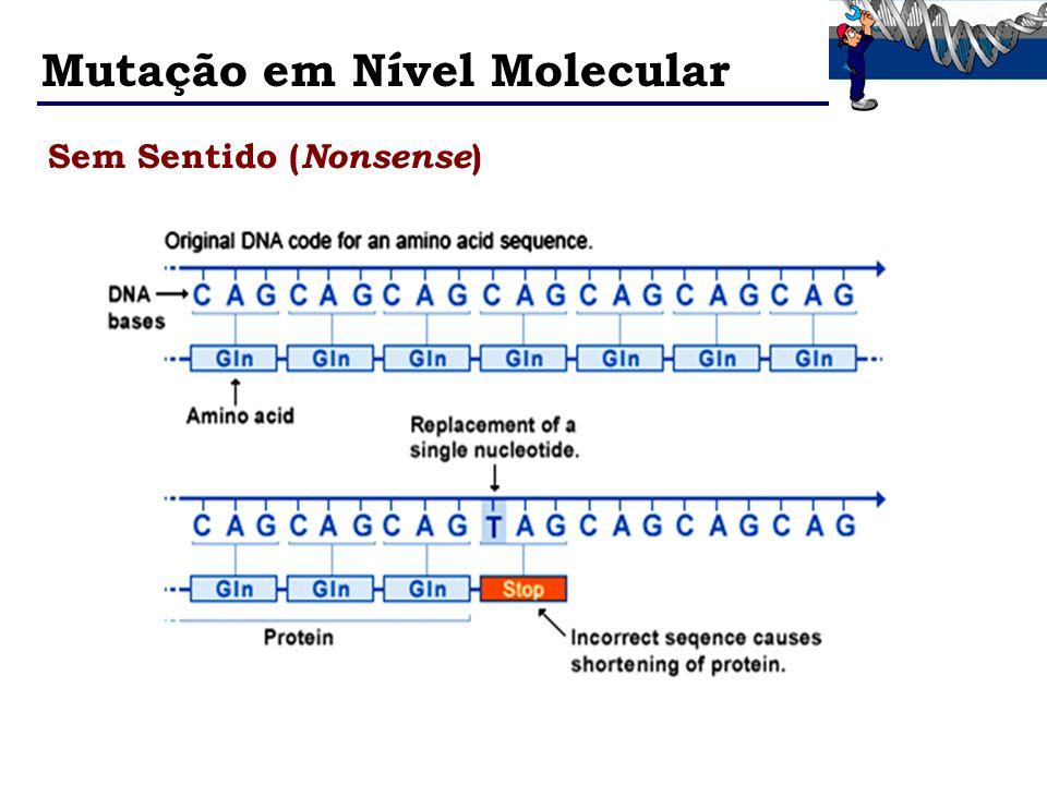 Mutação em Nível Molecular Sem Sentido ( Nonsense )