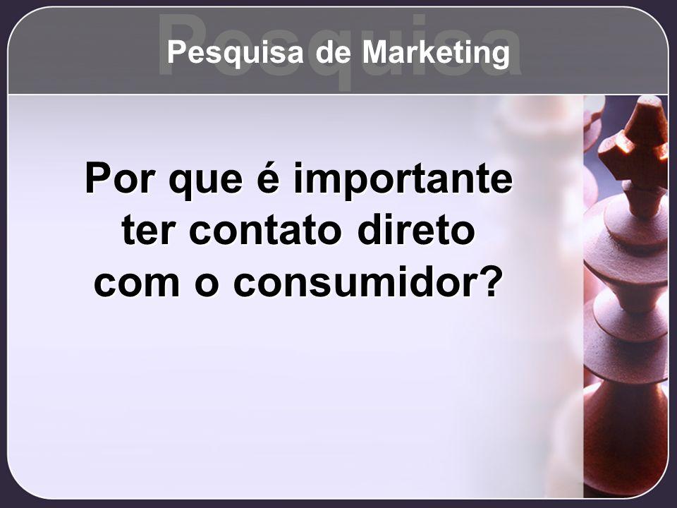 Por que é importante ter contato direto com o consumidor? Pesquisa Pesquisa de Marketing
