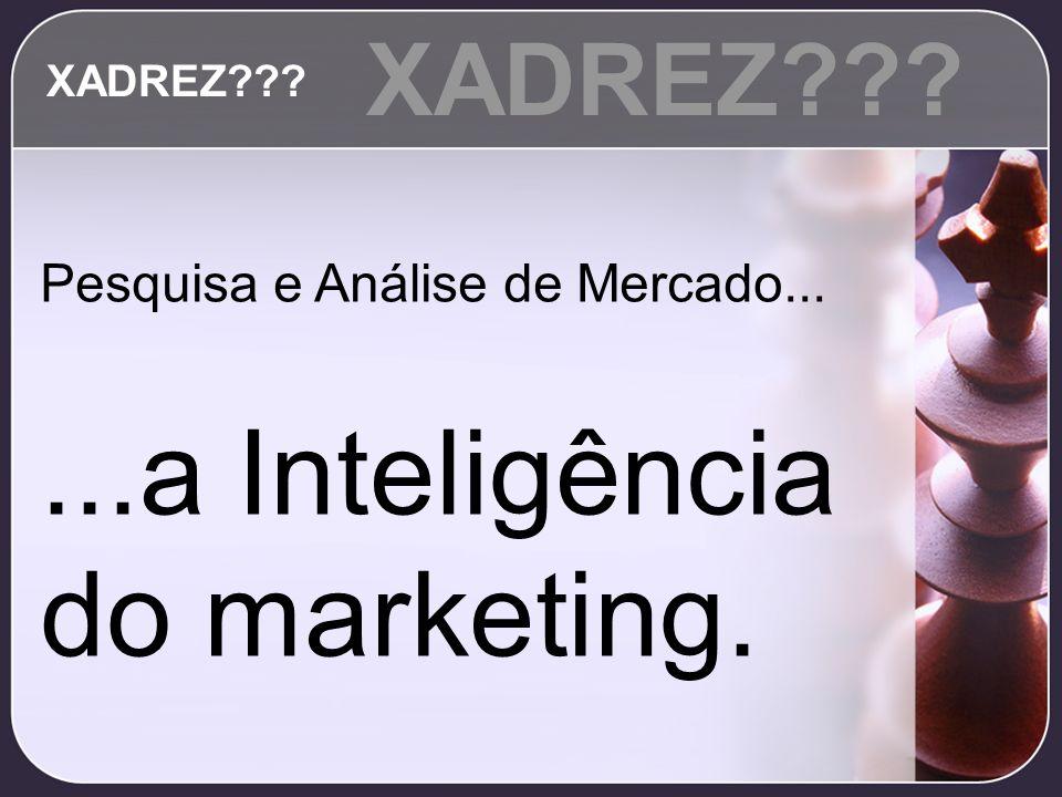 Pesquisa e Análise de Mercado......a Inteligência do marketing. XADREZ???