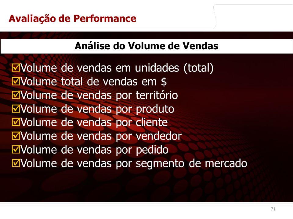 euler@imvnet.com.br | www.slideshare.net/eulernogueira 71 Análise do Volume de Vendas Volume de vendas em unidades (total) Volume total de vendas em $ Volume de vendas por território Volume de vendas por produto Volume de vendas por cliente Volume de vendas por vendedor Volume de vendas por pedido Volume de vendas por segmento de mercado Avaliação de Performance