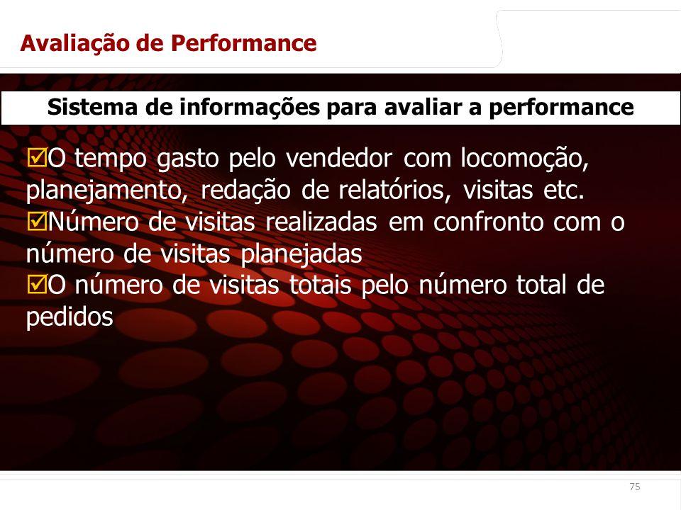 euler@imvnet.com.br | www.slideshare.net/eulernogueira 75 Sistema de informações para avaliar a performance O tempo gasto pelo vendedor com locomoção, planejamento, redação de relatórios, visitas etc.