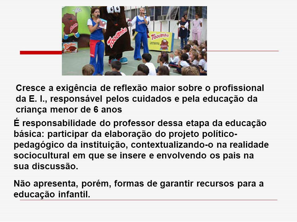 É responsabilidade do professor dessa etapa da educação básica: participar da elaboração do projeto político- pedagógico da instituição, contextualiza