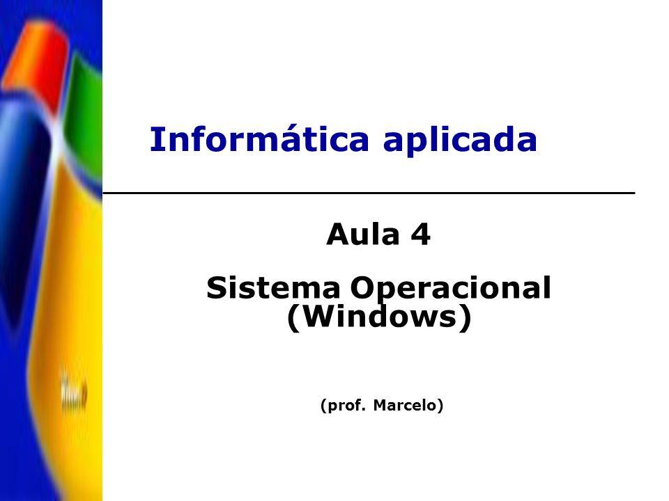 Informática aplicada Aula 4 Sistema Operacional (Windows) (prof. Marcelo)