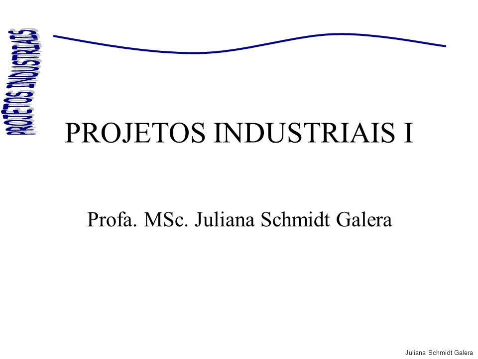 Juliana Schmidt Galera PROJETOS INDUSTRIAIS I Profa. MSc. Juliana Schmidt Galera