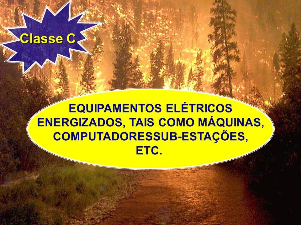 Classe C EQUIPAMENTOS ELÉTRICOS ENERGIZADOS, TAIS COMO MÁQUINAS, COMPUTADORESSUB-ESTAÇÕES, ETC.